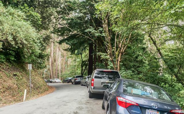 Roadside Parking on Purisima Creek Rd