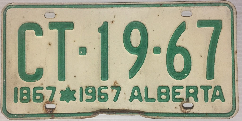 ALBERTA 1967 LICENSE PLATE---YEAR NUMBER MATCH | ALBERTA 196… | Flickr
