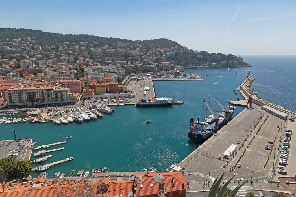 Port De Nice Nice France Parc De La Colline Du Chateau Flickr