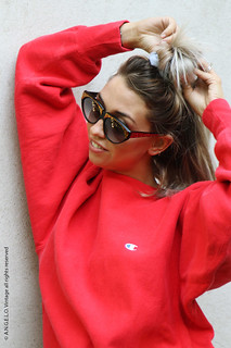 80s Sunglasses Champion Sweatshirt