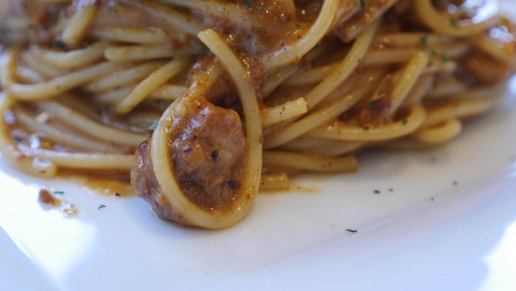 お肉とチーズのスパゲティー