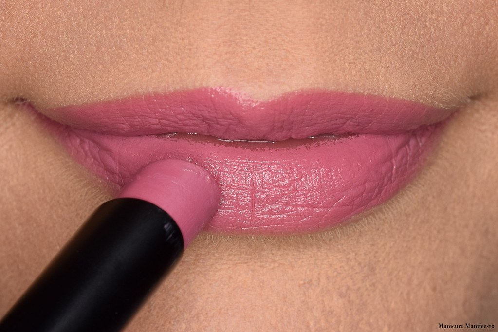 Mary Kay rose blush lipstick swatch