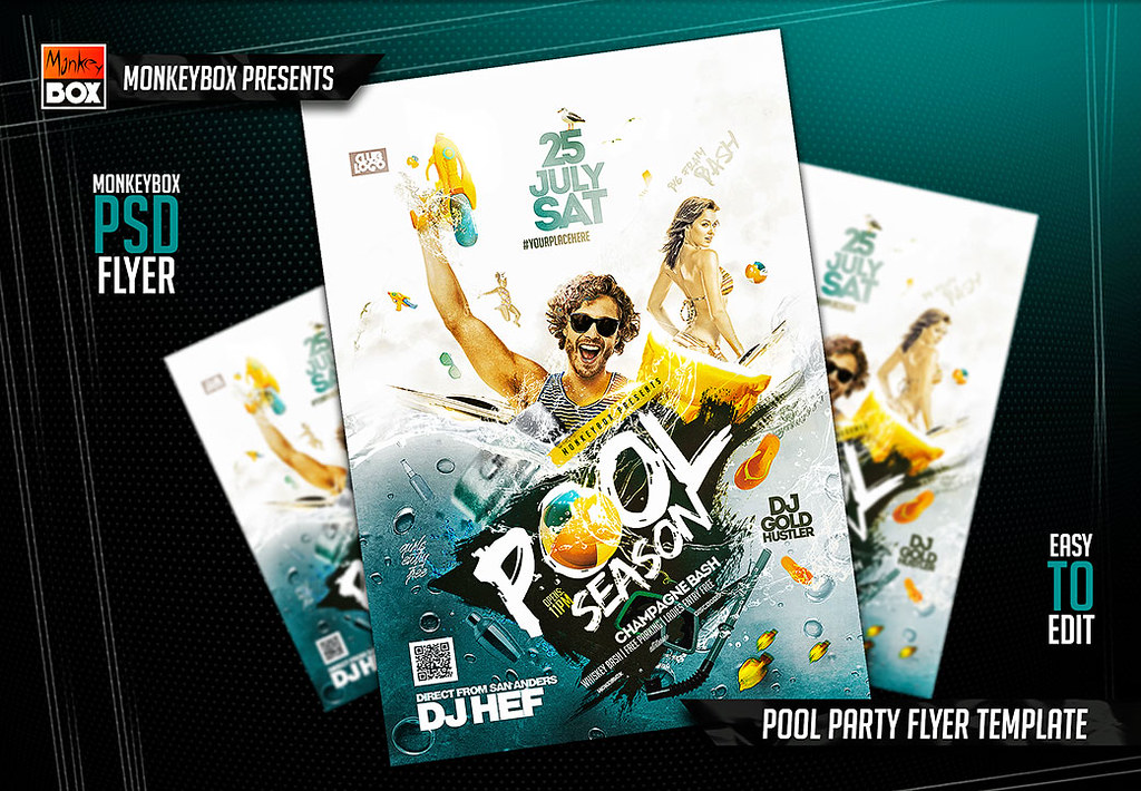 pool party flyer template download psd here goo gl d9v5cq flickr