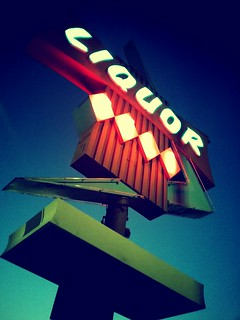 old school neon liquor sign | by Laura Shindollar
