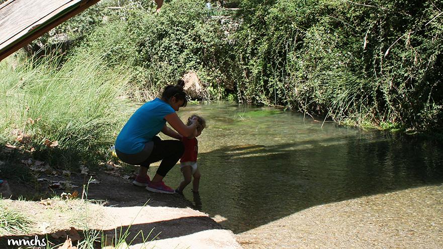 bañándonos en el río Tuéjar