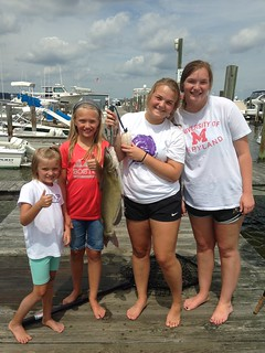 These girls are certainly happy with this channel catfish.