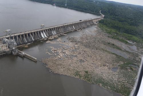 Aerial photo of the Conowingo Dam