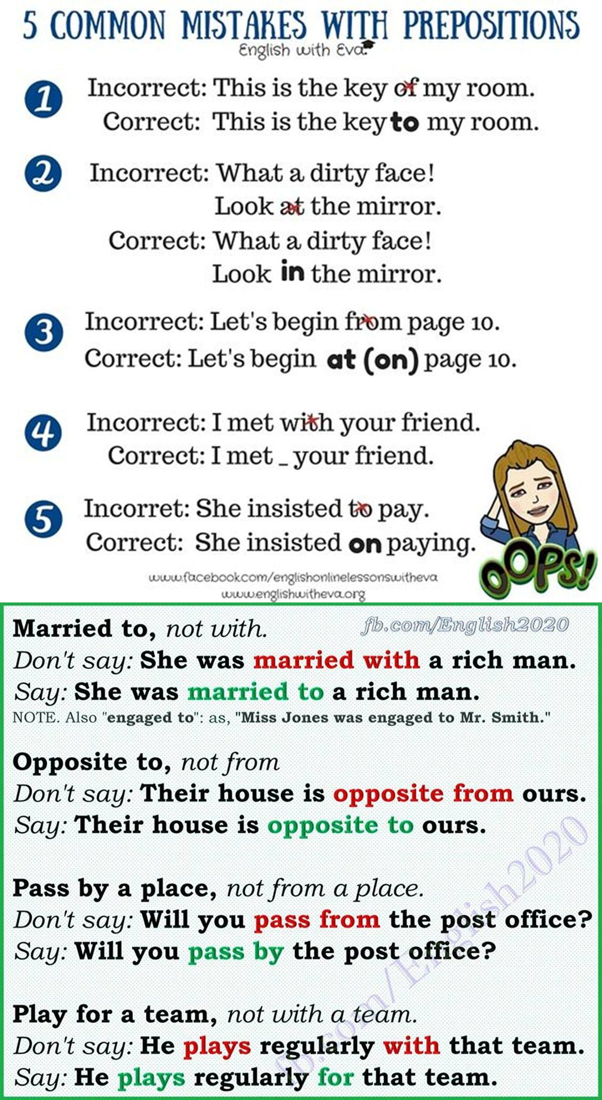 Common Mistakes with Prepositions 3