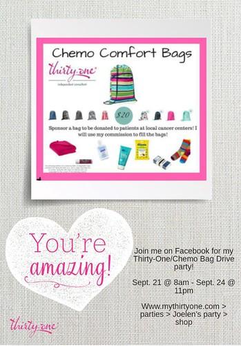 Chemo Comfort Bag Fundraiser Event
