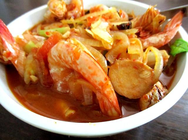Payung Cafe extra prawns
