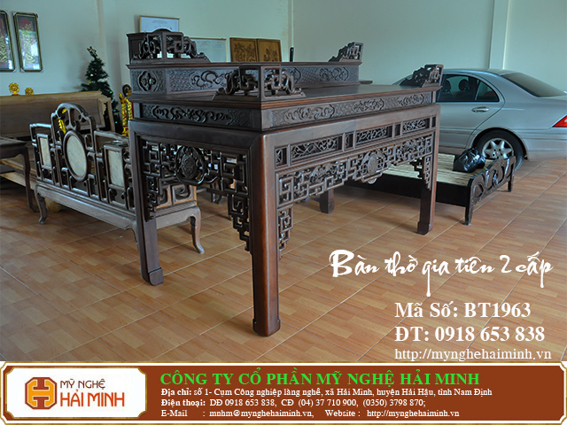 BT1963e  Ban Tho Gia Tien 2 cap  do go mynghehaiminh