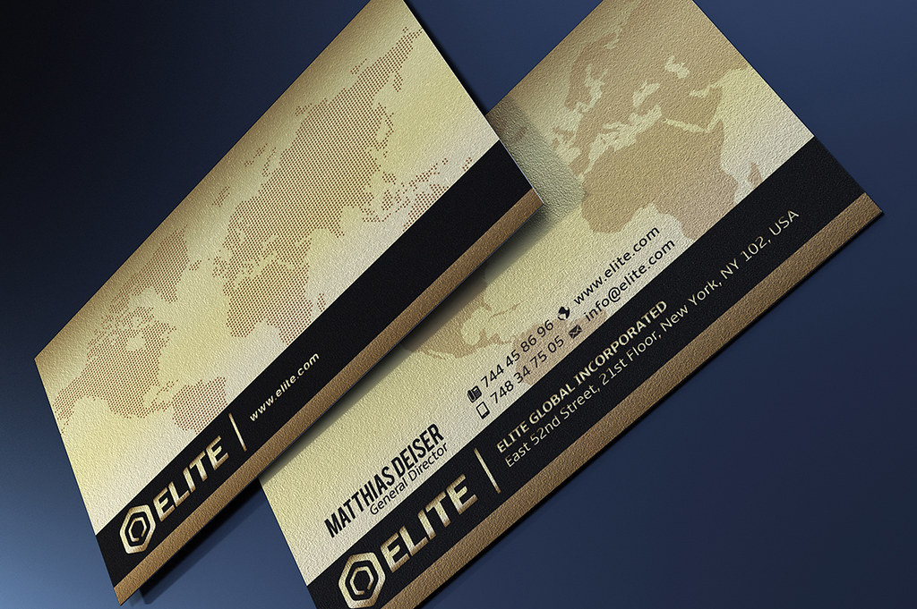 Gold And Black Business Card Template | DOWNLOAD THE TEMPLAT… | Flickr