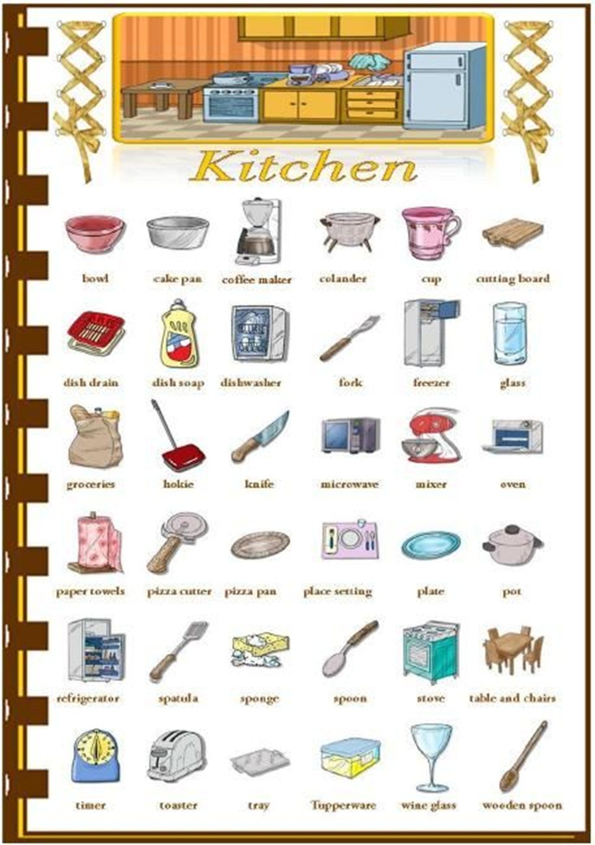 "Vocabulary: ""IN THE KITCHEN"" 3"