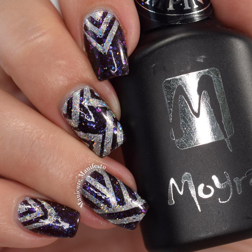 Geometric Reverse Stamping Nail Art Born Pretty Review: Manicure Manifesto: Holo Geometric Nail Art Featuring Born