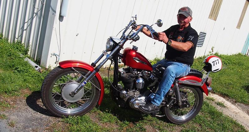 Harley Davidson 1970 à pédales inversées - Cerny (91) Août 2017  35884418623_50de4d8c52_c