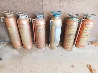 Brass fire extinguishers | by thornhill3