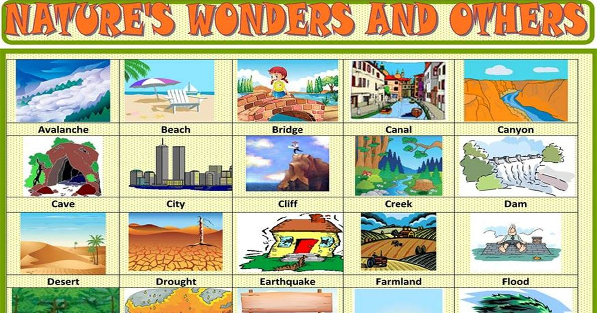 Vocabulary: Nature's Wonders & Others 5