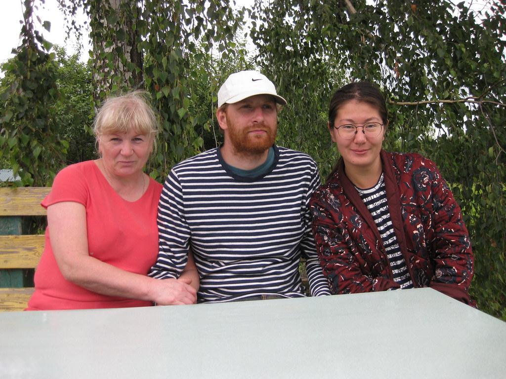 Отставнова (Копылова) Мария Андреевна с сыном Отставновым Евгением и его девушкой Татьяной