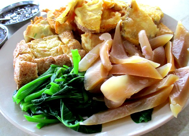 Sotong kangkong platter
