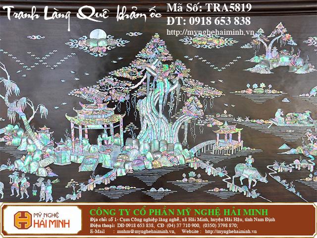 TRA5819d  Tranh Lang Que kham oc  do go mynghehaiminh