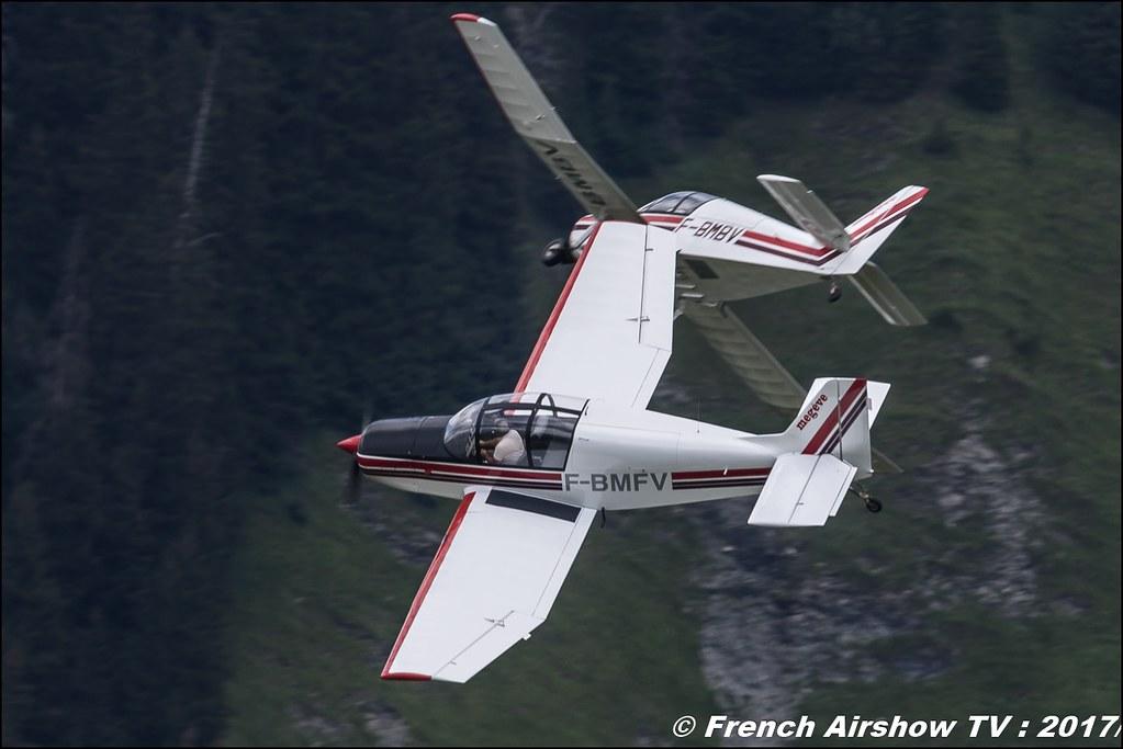 Aero Club - Megève, Patrouille Jodel D140C 50ans d'Aviation Megeve 2017 - altiport de Megève , Haute-Savoie, Auvergne-Rhône-Alpes , Meeting Aerien 2017
