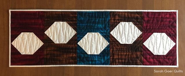 Fall Fleurish table runner quilt pattern
