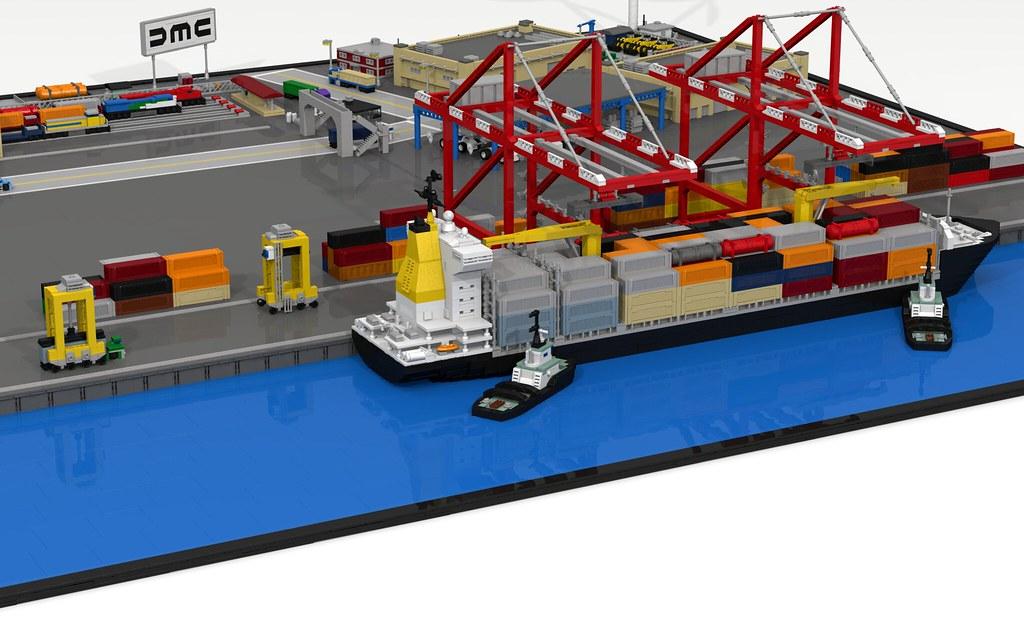 Harbor Freight Gantry Crane >> Intermodal Freight Terminal | A diorama of a small ...
