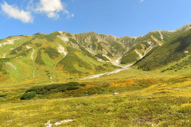 北アルプス立山連峰 紅葉登山