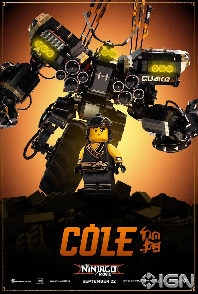The LEGO Ninjago Movie character poster Cole | More on www.h… | Flickr
