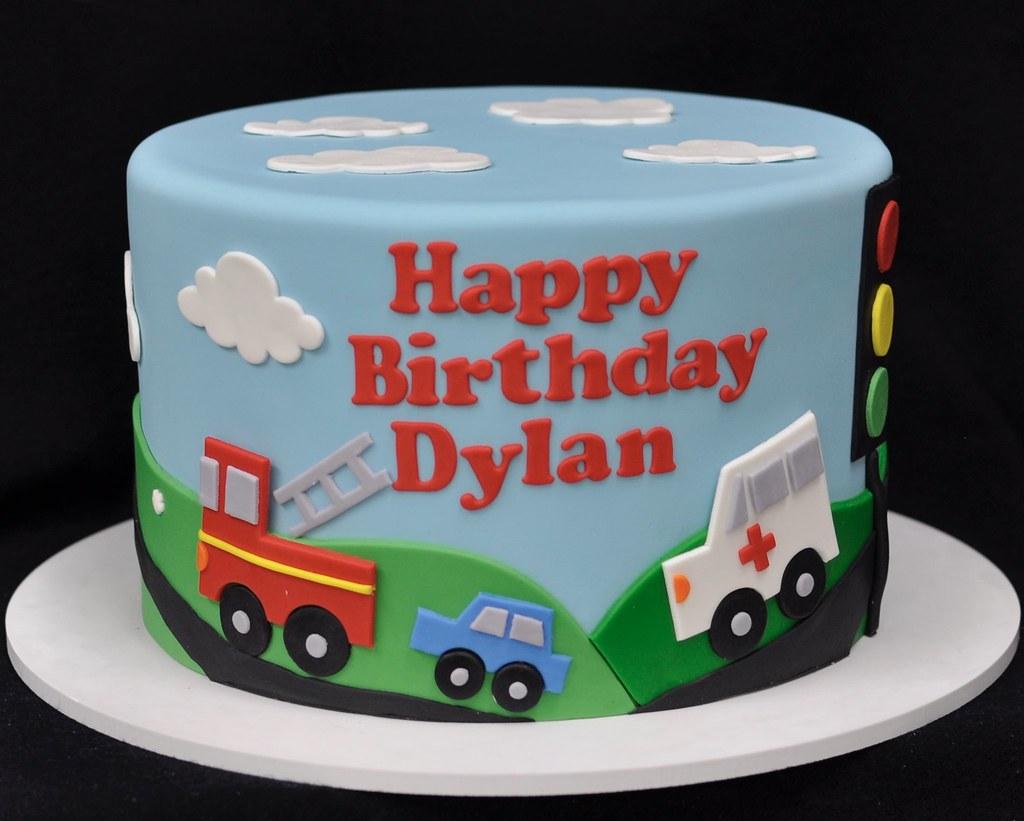 Car Firetruck Ambulance Birthday Cake Jenny Wenny Flickr