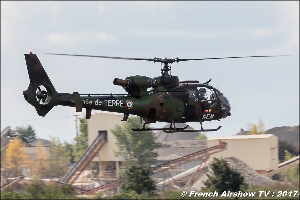 Sud-Aviation SA340/341/342 Gazelle ALAT , Meeting aérien contre le cancer , Free Flight World Masters Rodez-Aveyron , FFWM2017 , Meeting Aerien 2017