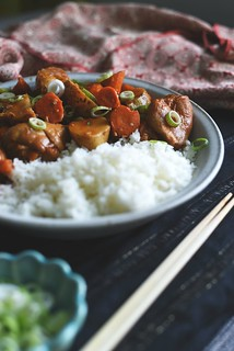 spicy korean chicken stew - dak-bokkeum-tang | by Lan | MoreStomachBlog