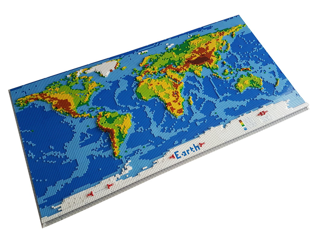 Dirks LEGO World Map If You Want To Read More About This P Flickr - World map p