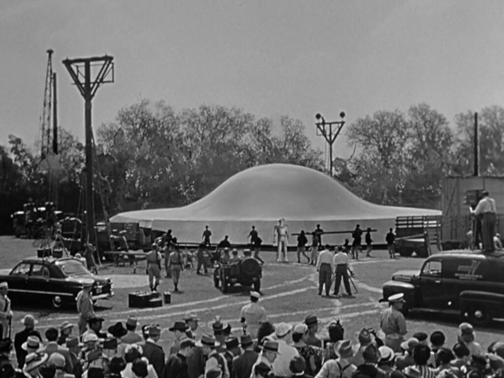 "Spaceship, Lock Martin (Gort), & Crowd, ""The Day the Earth Stood Still,"" 1951"