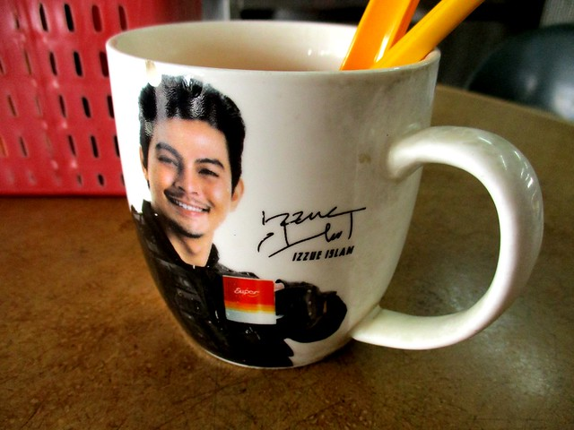 Handsome face on mug