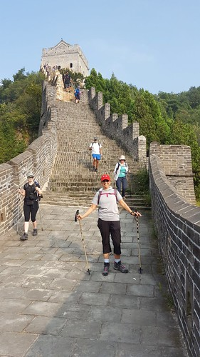 Clare Muhiudeen on the Great Wall of China Trek, Day One