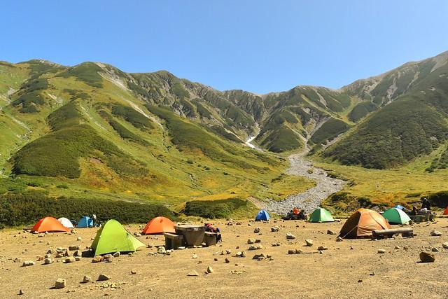 雷鳥沢キャンプ場のテント場