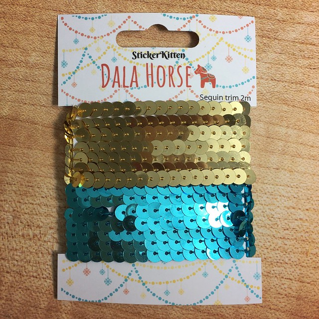 StickerKitten Christmas 2017 range - Dala Horse sequin trim
