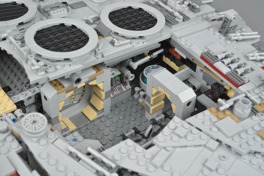 Millennium Falcon The Completed Model Brickset Lego Set Guide