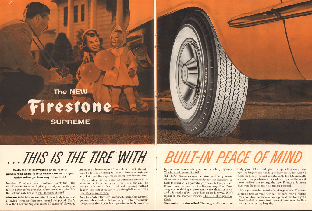 1956 Firestone Tire Advertisement Time Magazine May 21 195 Flickr