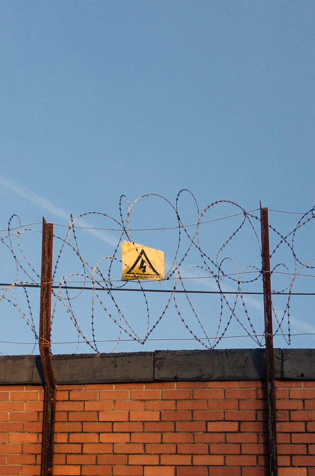 danger sign on barbed wire