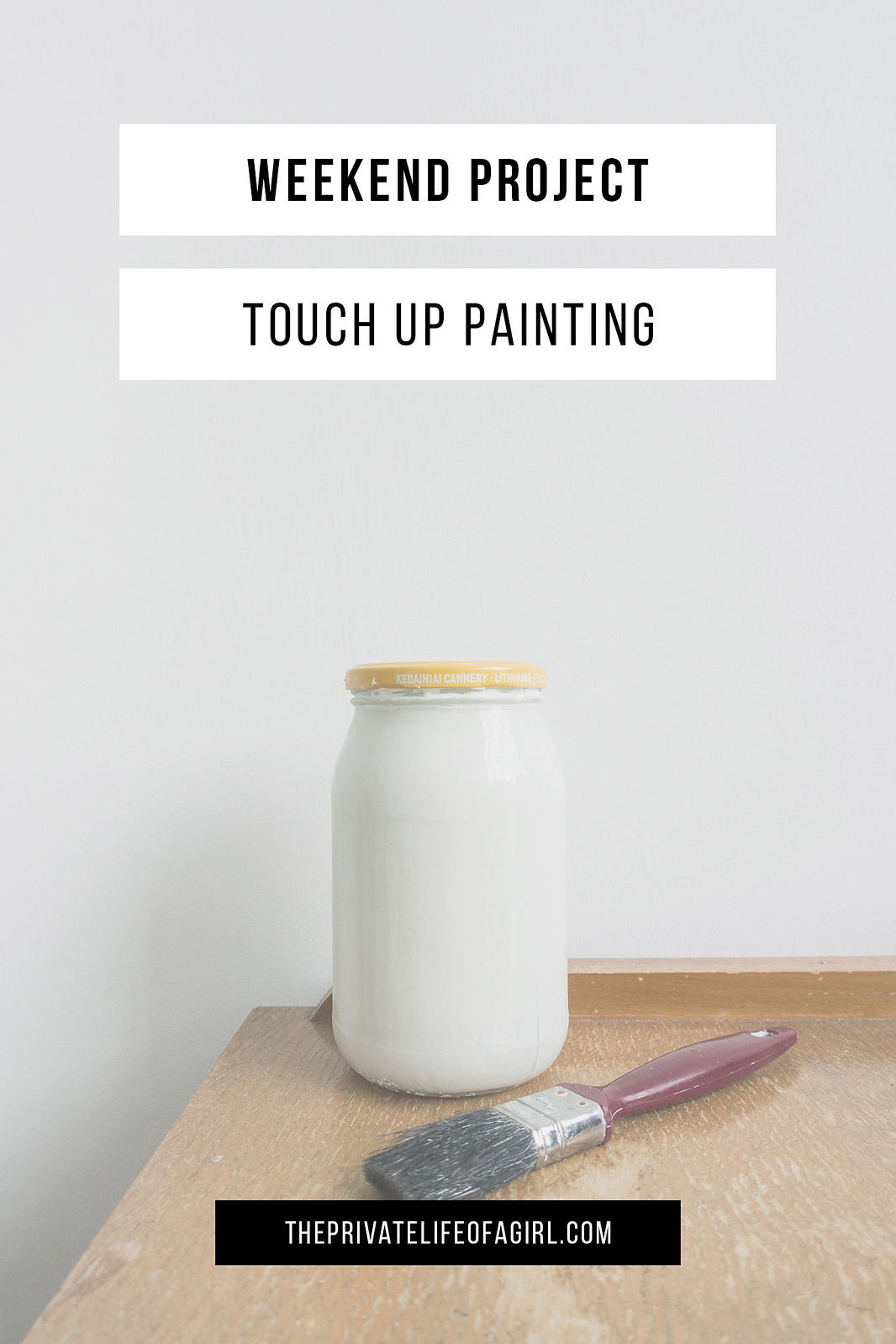 Weekend Project: Touch Up Painting