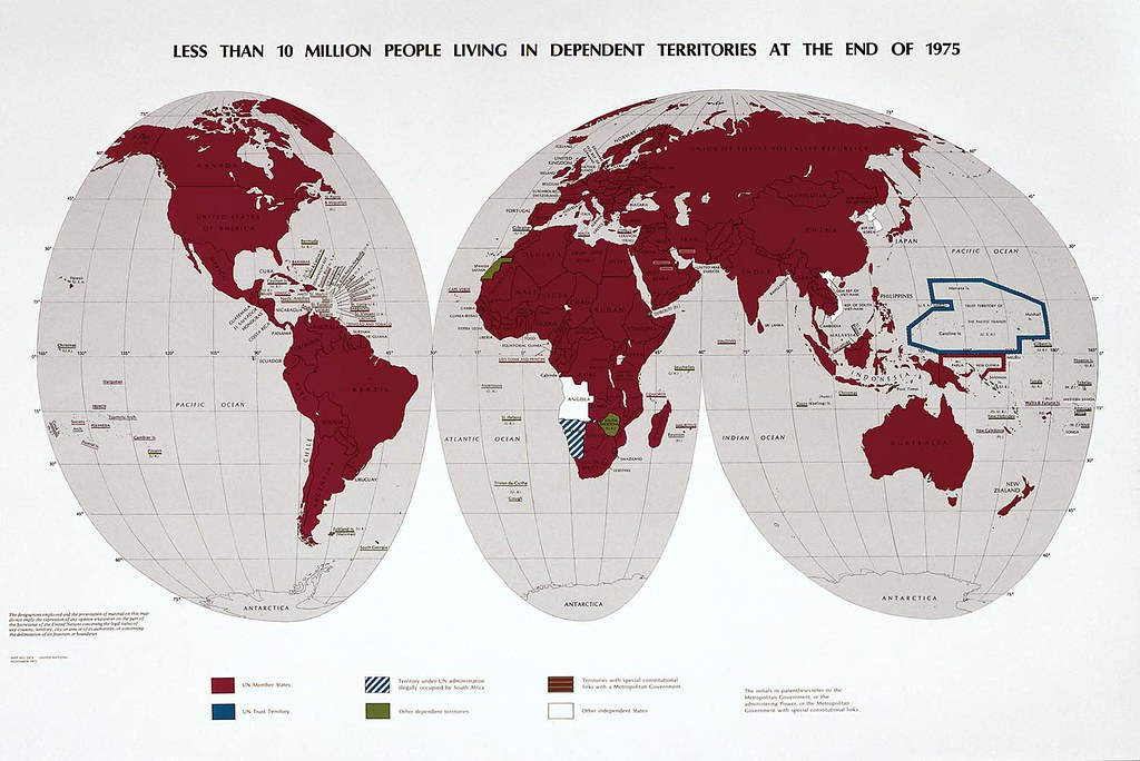 United Nations Territories World Map 1975 | UN Celebrates th… | Flickr