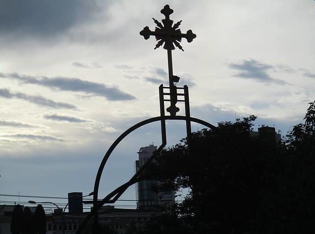 Cross at Sacred Heart Cathedral, Sibu