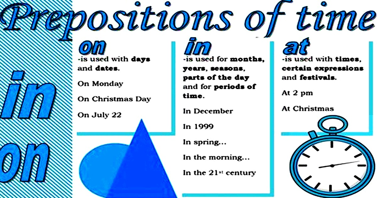 Prepositions of Time – AT, IN, ON (Exercises) 5