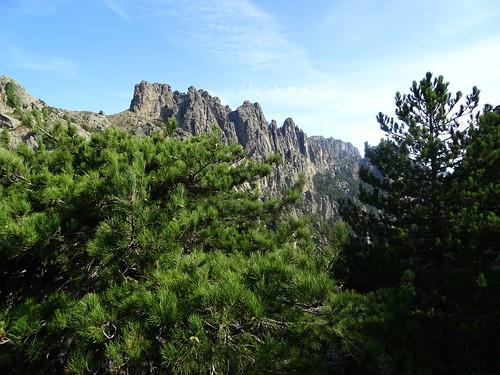 Bocca di l'Acellu : vers Bocca di u Pargulu et le chaînon de Pampalonu