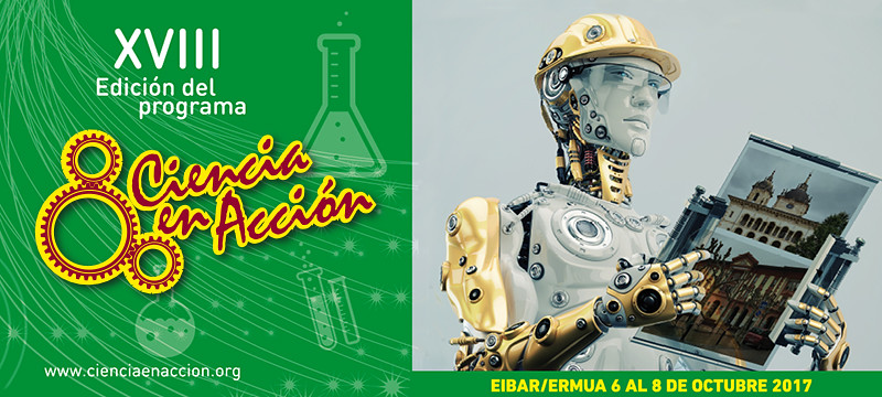 Cartel anunciador de Ciencia en Acción