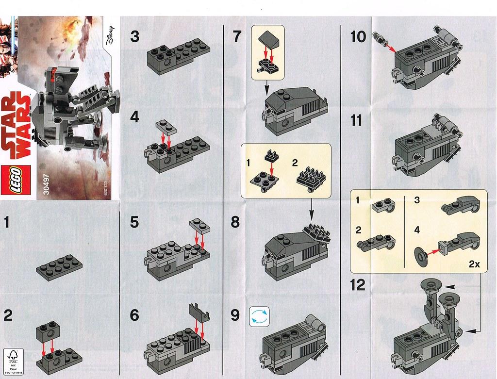 Lego 30497 Mini First Order Heavy Assault Walker Instructi Flickr
