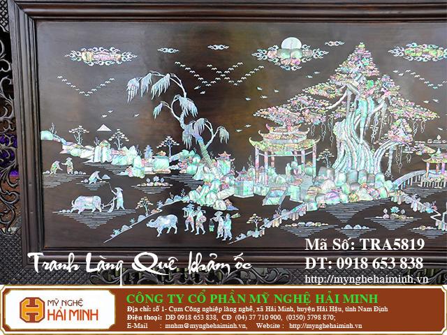 TRA5819b  Tranh Lang Que kham oc  do go mynghehaiminh