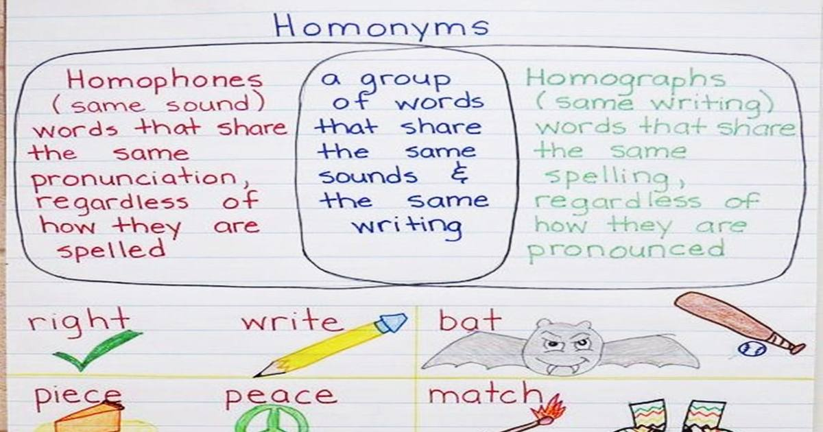 Common Homophones in English 5
